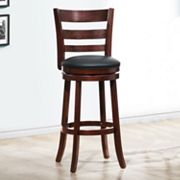 HomeVance Ladder-Back Swivel Bar Stool
