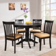 HomeVance 5-pc. Mission-Back Round Dining Set