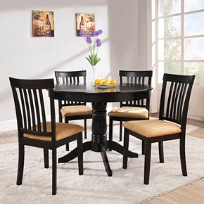 Mission Back Round Dining Set