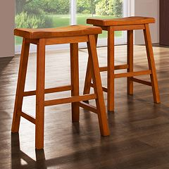 HomeVance 2 pc Classic Counter Stool Set
