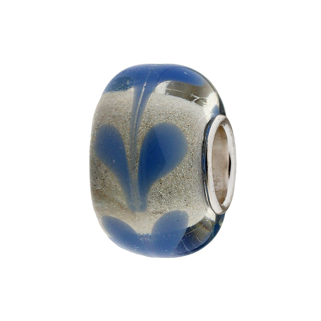 Individuality Beads Sterling Silver Heart Glass Bead