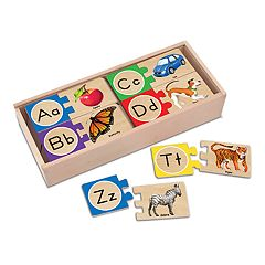Melissa & Doug Self-Correcting Alphabet Letter Wood Puzzles