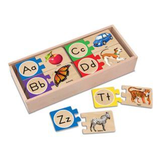 Melissa and Doug Self-Correcting Alphabet Letter Wood Puzzles
