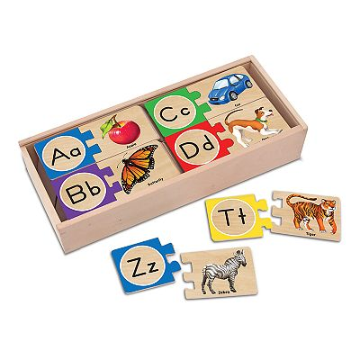 Melissa and Doug Self-Correcting Alphabet Letter Wood Puzzles