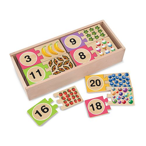 Melissa & Doug Self-Correcting Numbers Wood Puzzle