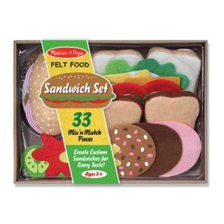 Melissa and Doug Felt Food Sandwich Playset