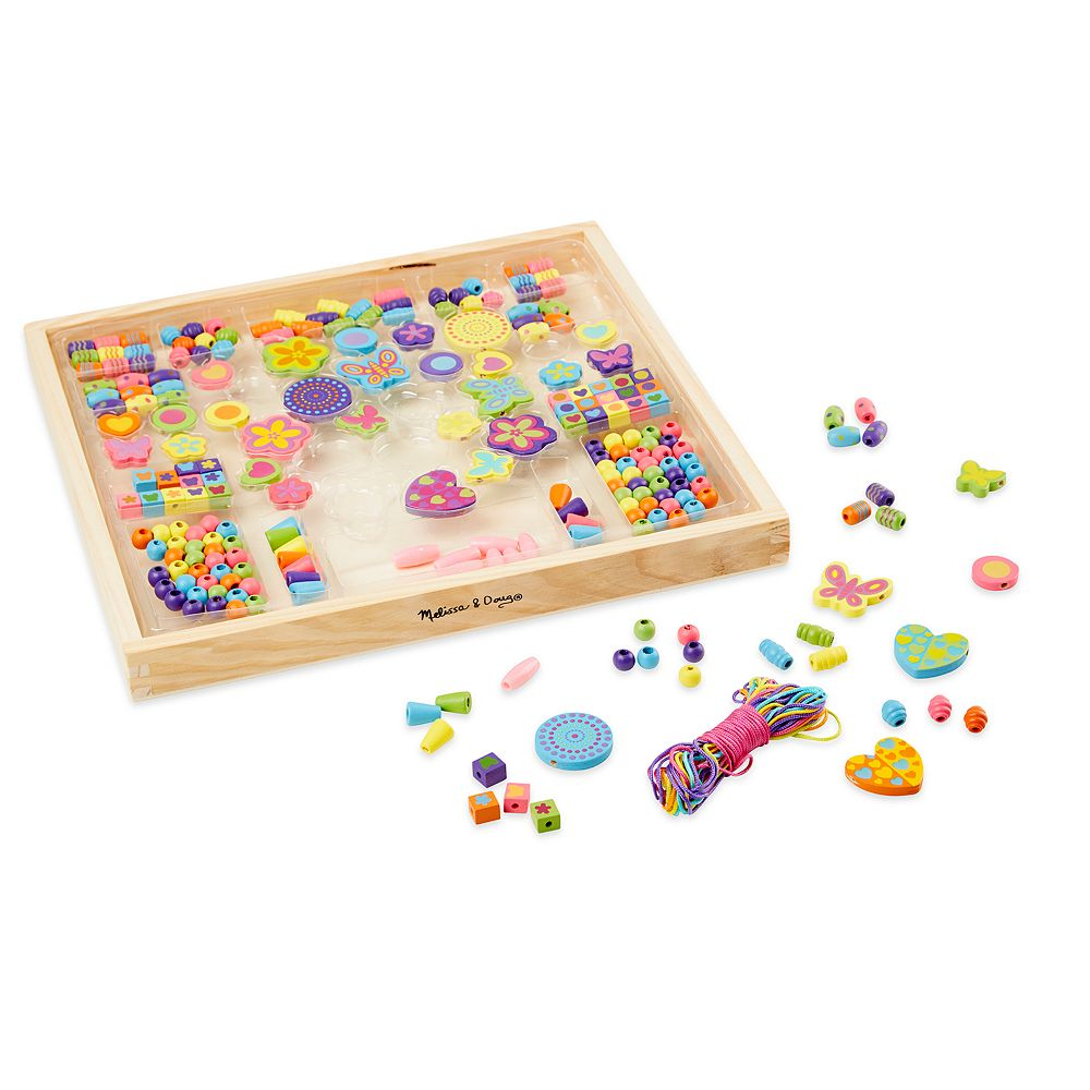 Melissa Doug Bead Bouquet Wooden Bead Set