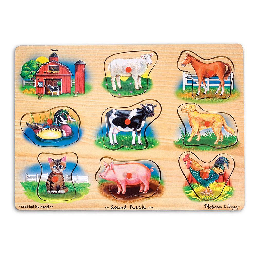 Melissa & Doug Farm Sounds Wood Puzzle