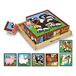 Melissa & Doug Farm Wood Cube Puzzle