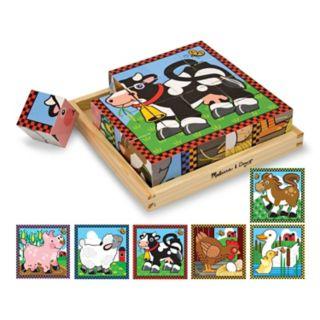 Melissa and Doug Farm Wood Cube Puzzle