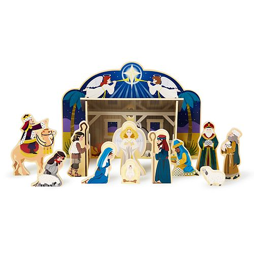 Melissa & Doug Wooden Nativity Set
