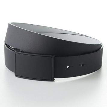 Apt. 9® Reversible Black Buckle Faux-Leather Belt