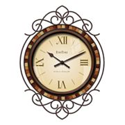 FirsTime Tile Flourish Wall Clock