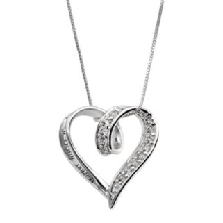 Sterling Silver Cubic Zirconia Mother Heart Pendant