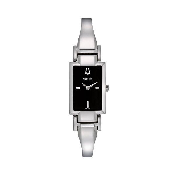 Bulova Women's Stainless Steel Half-Bangle Watch - 96L138