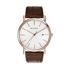 Bulova Men's Leather Watch - 98H51