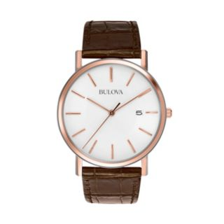 Bulova Men's Leather Watch - 98H51