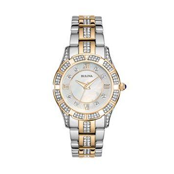 Bulova Women's Crystal Two Tone Stainless Steel Watch - 98L135