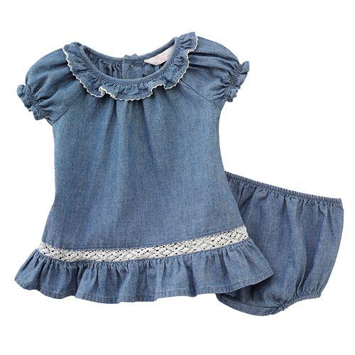 Chaps Chambray Dress - Baby