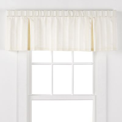 Chaps Dumont Damask Striped Valance - 17'' x 54''