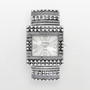 Studio Time Silver Tone Textured Bangle Watch - STD1050T - Women