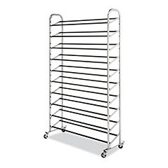 Whitmor 10-Tier Rolling Shoe Rack