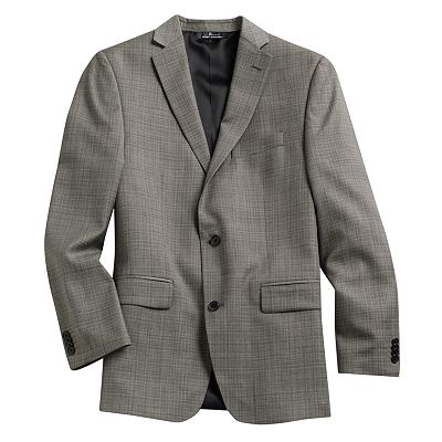 Marc Anthony Slim-Fit Plaid Wool Blazer