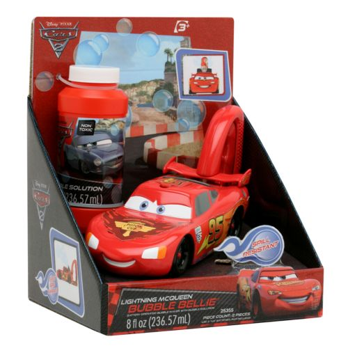 Disney / Pixar Cars 2 Lightning McQueen Bubble Bellie