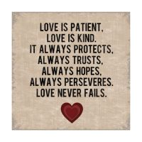 Love Is Patient Wall Decor