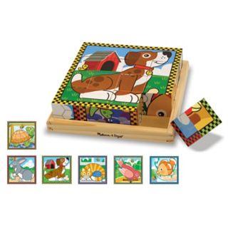 Melissa and Doug Pets Wood Cube Puzzle