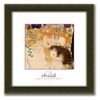 The Three Ages of Woman Framed Canvas Art By Gustav Klimt - 14 x 14