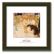 """The Three Ages of Woman"" Framed Canvas Art By Gustav Klimt - 18"" x 18"""