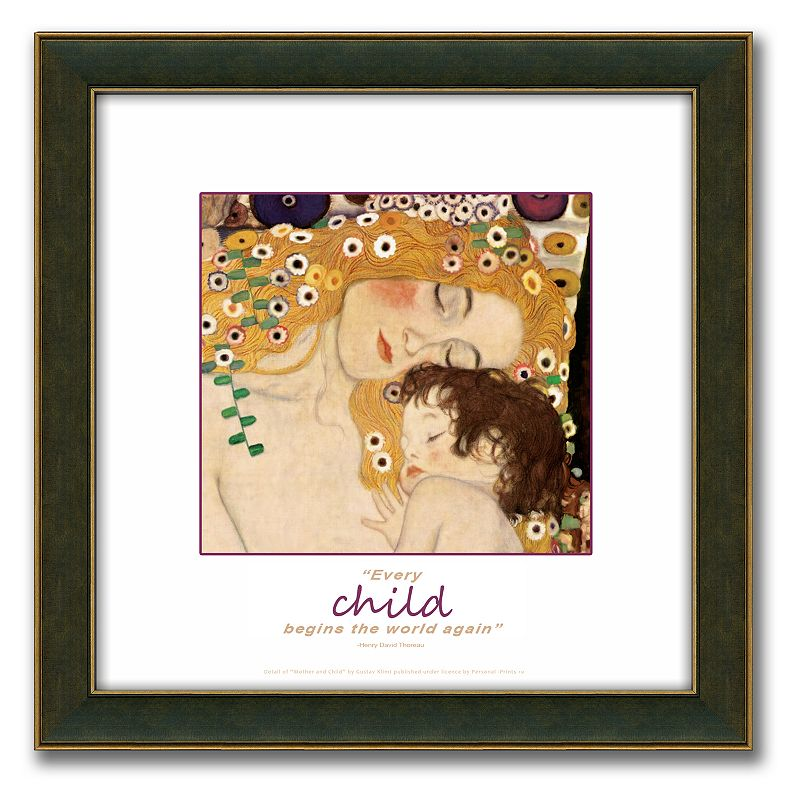 The Three Ages of Woman Framed Canvas Art By Gustav Klimt - 18 x 18, 18X18