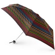 Totes Dotted Stripes Micro Umbrella