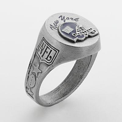 New York Giants Silver Tone Ring