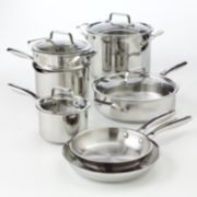 Bobby Flay 11-pc. Stainless Steel Cookware Set