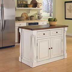 Monarch Antique White Kitchen Island