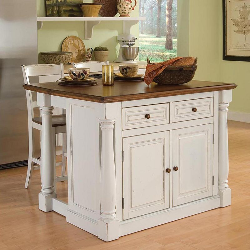 Home Styles Monarch 3-pc. Kitchen Island And Counter