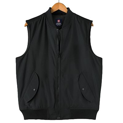 Chaps Fleece-Lined Sateen Vest - Men