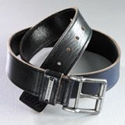Rock and Republic Raw-Edge Leather Belt