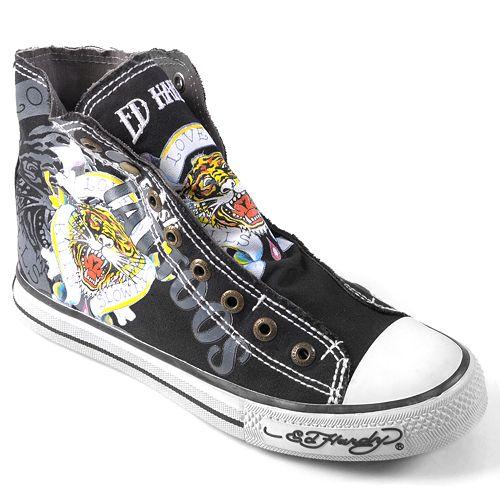 Ed Hardy High-Top Sneakers