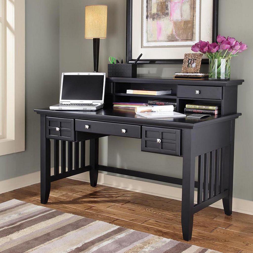 Arts & Crafts Executive Desk With Hutch
