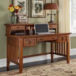 Arts & Crafts Executive Desk With Hutch