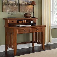 Arts & Crafts Student Desk With Hutch