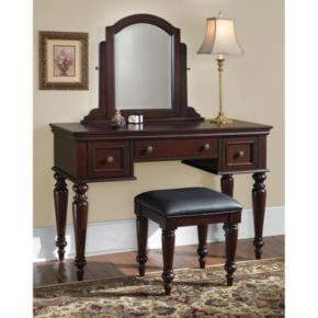 Lafayette Vanity Table With Mirror And Bench Set
