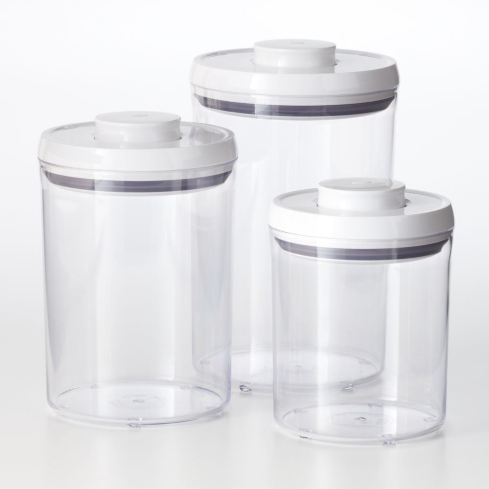 good grips 3 pc pop kitchen canister set