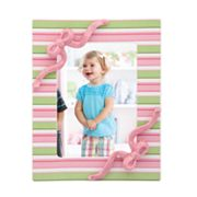 Merry Go Round Little Girl With A Curl Striped 5 x 7 Frame