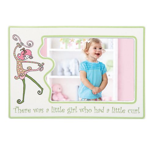 "Merry Go Round Little Girl With A Curl 4"" x 6"" Frame"