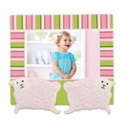 Merry Go Round Little Girl With A Curl Sheep 4' x 6' Frame