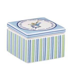 Merry Go Round Little Boy Blue Striped Trinket Box